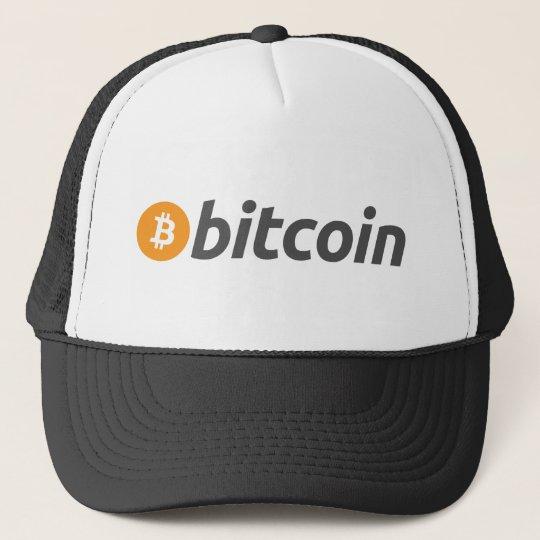 Bitcoin logo writing cap