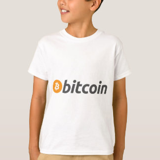 Bitcoin logo writing T-Shirt