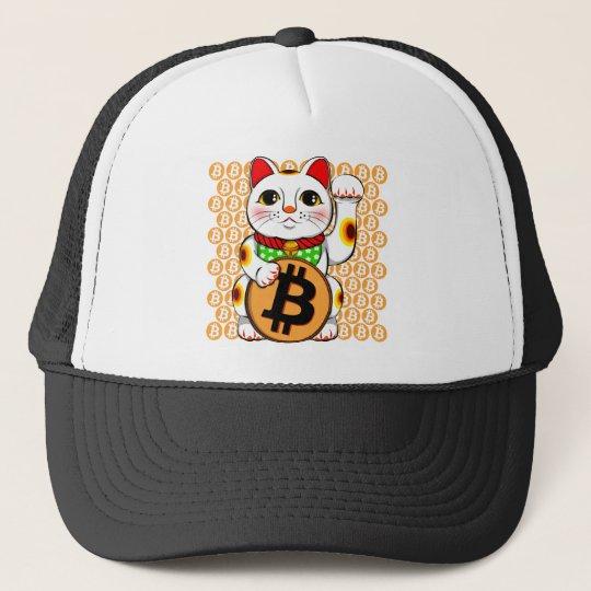 Bitcoin Maneki Neko Lucky Cat 04 Trucker Hat