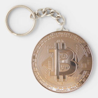 Bitcoin metallic made of to copper. M1 Basic Round Button Key Ring