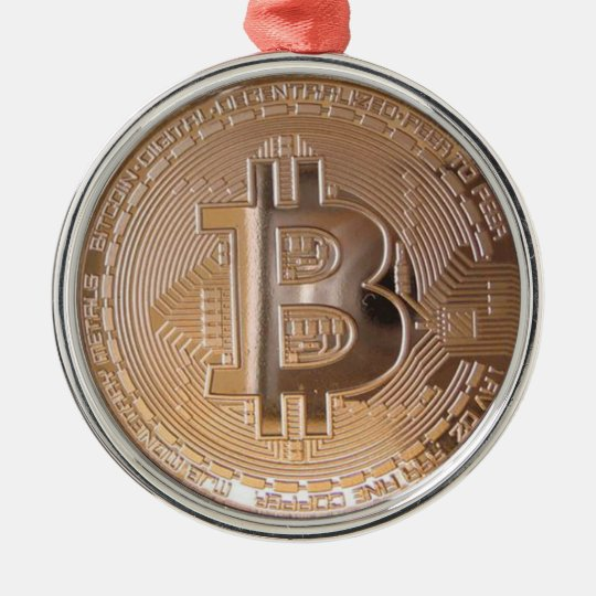 Bitcoin metallic made of to copper. M1 Christmas