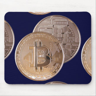 Bitcoin metallic made of to copper. M1 Mouse Mat
