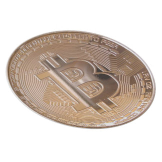 Bitcoin metallic made of to copper. M1 Plate