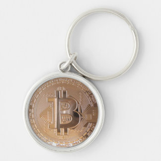 Bitcoin metallic made of to copper. M1 Silver-Colored Round Key Ring