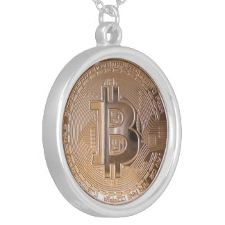 Bitcoin metallic made of to copper. M1 Silver Plated Necklace