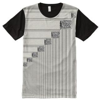 Bitcoin Miners Grayscale Men Add QR Codes Biz All-Over Print T-Shirt