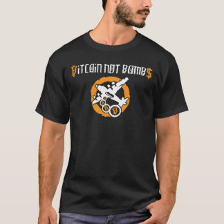 Bitcoin Not Bombs Graffiti - black t shirt
