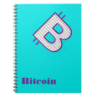 bitcoin purple notebook