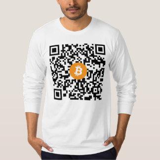 Bitcoin QR Code Long-Sleeve Shirt