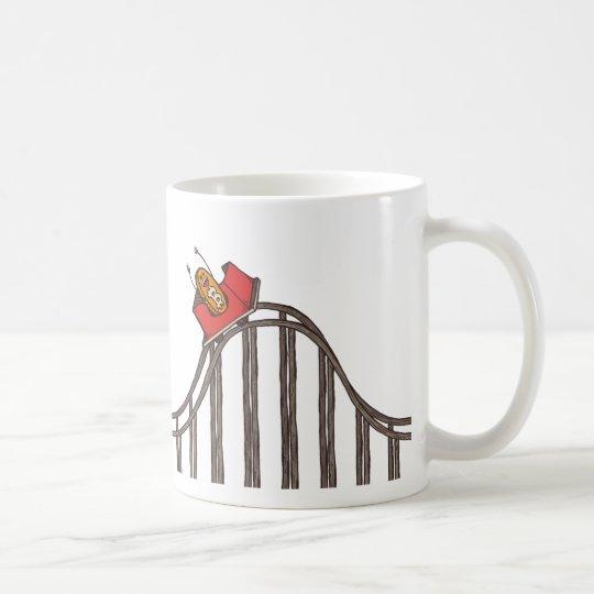 Bitcoin Roller Coaster Long Coaster Up Coffee Mug