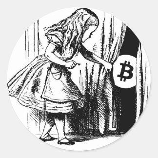 Bitcoin Sticker Alice in Wonderland
