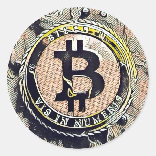 Bitcoin Sticker Cryptocurrency Money marketing