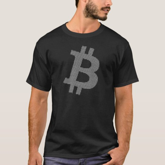 Bitcoin Strength in Number White Matrix T-Shirt