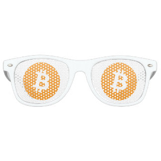 Bitcoin sunglasses with orange and white bitcoin l