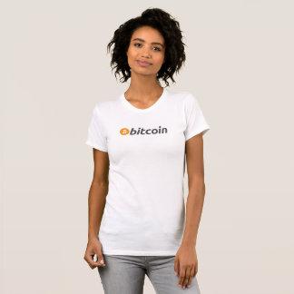 Bitcoin t shirt with orange and white logo
