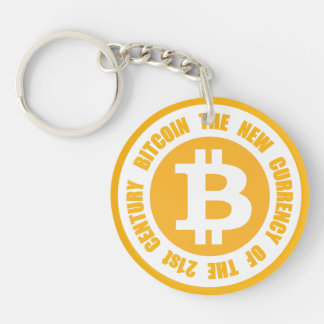 Bitcoin The New Currency Of The 21st Century Key Ring