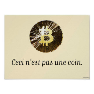 Bitcoin - This is not a Coin Poster