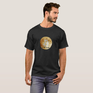 Bitcoin to the Moon Black T-Shirt
