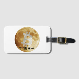 Bitcoin to the Moon Luggage tag