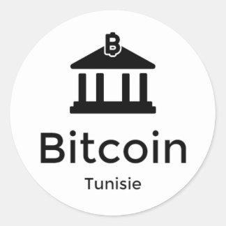 Bitcoin Tunisie Classic Round Sticker