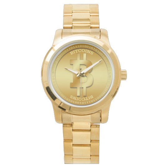 Bitcoin Unisex Oversized Gold Bracelet Watch