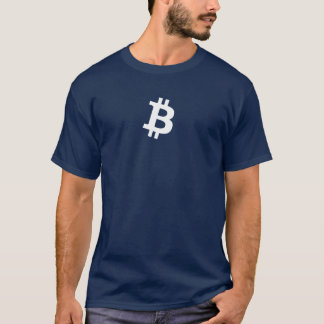 Bitcoin White B (HQ Dark Colors Shirt) T-Shirt