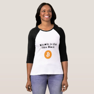 Bitcoin Womens Tshirts-Bitcoin is the New Black T-Shirt