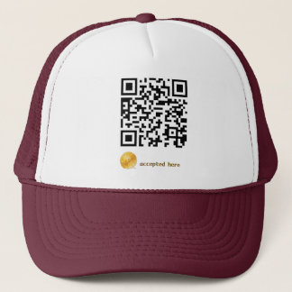 bitcoins accepted here trucker hat