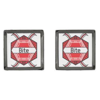 Bite Gunmetal Finish Cufflinks