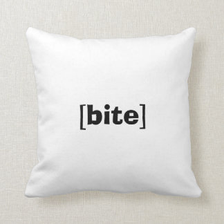 [bite] emote throw pillow