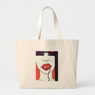 Bite It - Pop Art Style Lips Canvas Bag