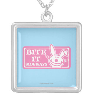 Bite it Sideways Silver Plated Necklace