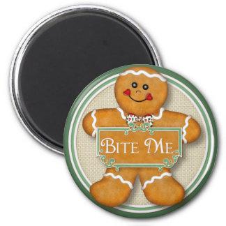 Bite Me 6 Cm Round Magnet