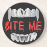 Bite Me Blood And Teeth Coaster