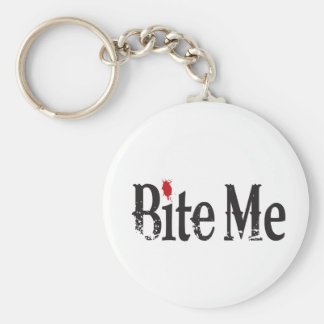 Bite Me (Blood) Basic Round Button Key Ring