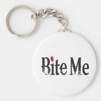 Bite Me (Blood) Basic Round Button Key Ring