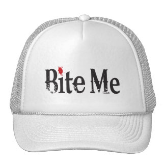 Bite Me (Blood) Trucker Hats
