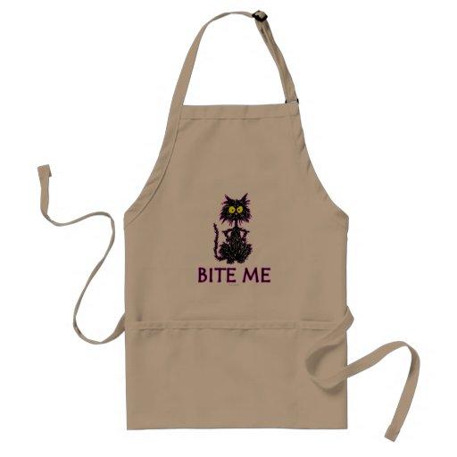 Bite Me! Cat Gift Designs Apron