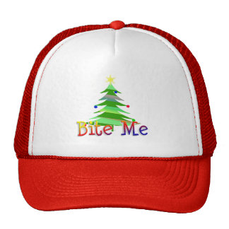 Bite Me Christmas Tree Cap