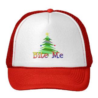 Bite Me Christmas Tree Mesh Hats
