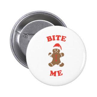 Bite Me Cookie 6 Cm Round Badge