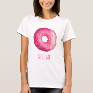 Bite Me Donut With Pink Frosting And Sprinkles T-Shirt