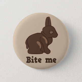 Bite me Easter bunny button