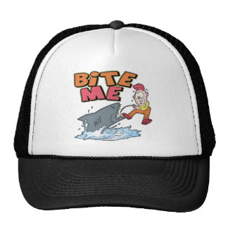 Bite Me Fishing T-shirts and Gifts Mesh Hats