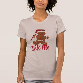 bite-me funny ginger snap christmas gingerbread T-Shirt