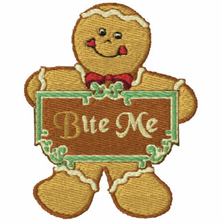 Bite Me Gingerbread Embroidered Hoody