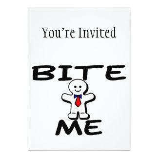 Bite Me Gingerbread Man 13 Cm X 18 Cm Invitation Card