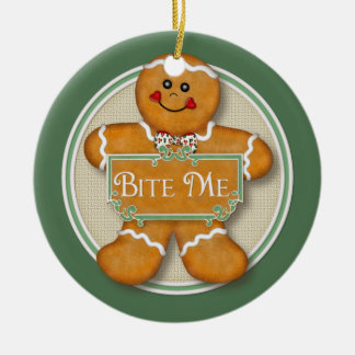Bite Me Gingerbread Man Ornament 2