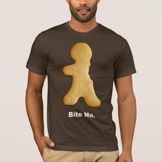 """Bite Me"" Gingerbread Man T-Shirt"