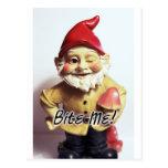 Bite Me Gnome Post Cards